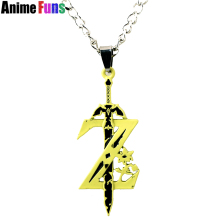 Game The Legend of Zelda Breath of the Wild Weapon Pendant Necklace Keychain Cosplay Sword Accessories Choker Necklace for fans