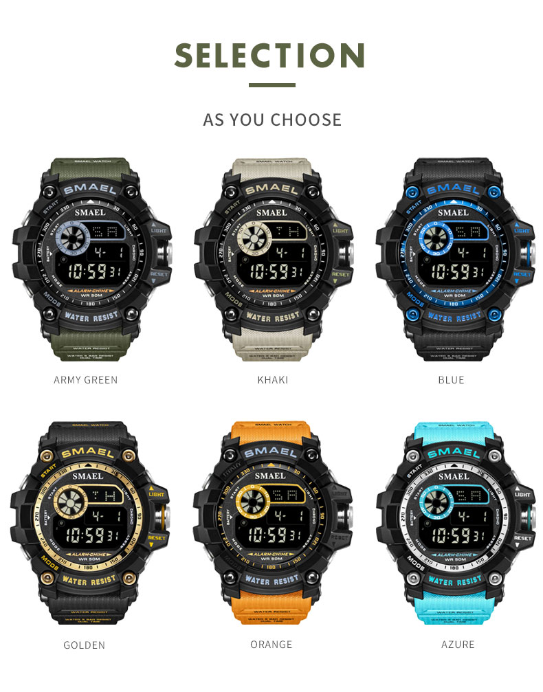 4 Waterproof Digital Watch
