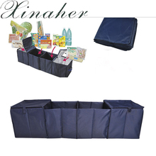 XINAHER Auto Care Car trunk storage bag Oxford Cloth folding truck storage box Car Trunk Tidy Bag Organizer Storage Box with coo