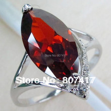 SHUNXUNZE Fashion jewelry Cute Silver Plated Punk Promotion Red Cubic Zirconia Ring R830 sz#7 8 Recommend Promotion Best Sellers