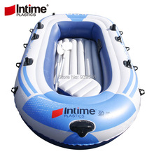 New summer 3 persons inflatable boat 0.4mm thick PVC fishing boat dinghy drifting craft Canoe Kayak size 231 * 130cm