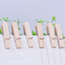 50 Pcs Natural Mini Spring Wood Clips Clothes Photo Paper Peg Pin Clothespin Craft Clips Party Home Decoration