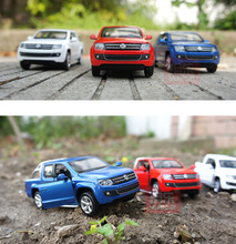 New Volkswagen Amarok Model 1:32 Alloy Truck Model Fast&Fruious High Simulation Exquisite Collection Toys Caipo Car Styling