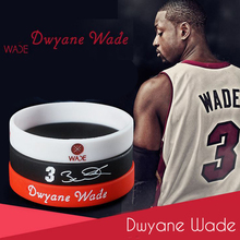 MACHUKA Dwyane Wade Kobe Paul Sport Basketball Energy Bracelet Power Rubber Bangle Silicone Soccer Motivational Wristbands(China)