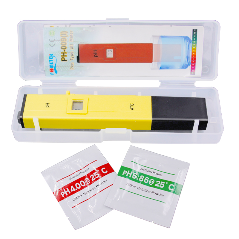 100pcs by dhl fedex Pen 0.01 LCD Acid aquarium Water Quality salt pool tester pH Meter Acidometer Analyzer with retail box %Of 8