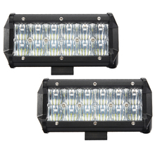 Senzeal 2PCS 5D 60W 6000LM Cree Chip Flood Spot Beam LED Work Light Bar Offroad Light Bar for Trucks 4x4 4WD ATV UTV SUV(China)
