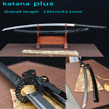 katanas nodachi handmade katana swords  katanas samurai japanese swords carbon steel Sharp bushido  Black Full tang Wavy hamon