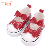 Tilda 6cm Shoes For Paola Reina Dolls,Casual Slipper Shoes for Dolls Corolle Minifee Bjd Bow Design Shoes for Dolls Accessories(China)