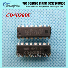 10pcs CD4028BE CD4028 HEF4028BP DIP-16 Encoders, Decoders, Multiplexers & Demultiplexers BCD-to-Decimal