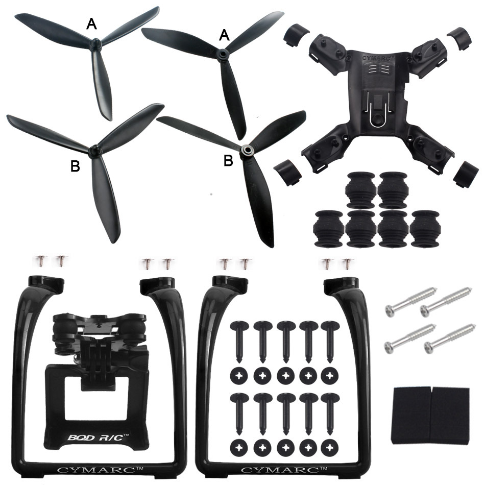 RC Drone HUBSAN H501S H501C H501A Quadcopter Gimble Mount Upgrade Parts With Blades For Gopro J7000 SJ8000 Spare Accessories<br>
