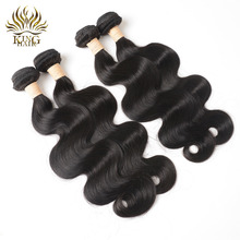 King Body Wave Indian Remy Hair Extensions 8-28inch Nature Color 100% Human Hair Bundles 1PCS Can Be Dyed Free Shipping(China)