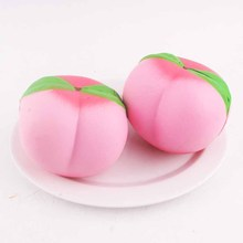 1PCS 11CM Jumbo kawaii Squishy Slow Rising Peach Pendant Phone Straps Charms Queeze Kid Toys Cute squishies Bread(China)