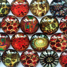 ZEROUP 12mm round glass cabochon decorative pictures mixed pattern fit cameo base setting for jewelry 50pcs/lot TP-065-R