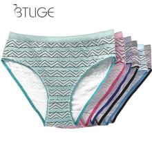 Buy Geometric Print Womens Cotton Underwears Fashion Sexy Womens Briefs Ladies Panties Breathable Underpants Girls Knickers
