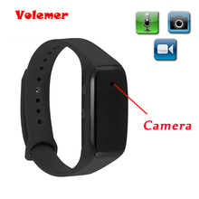 Volemer Easy Carry Bracelet Camera HD 1080P Life Video Recorder Wristband Mini Camcorders Support Micro SD Max 32GB Watch Camera(China)