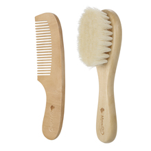 New Baby Hair Brush Comb Set Wooden Handle Brush Baby Hairbrush Newborn Hairbrush Kit Infant Comb Soft Wool Hair Scalp Massage