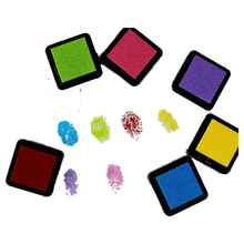 6 Color Stamp Ink Pad Inkpad Finger Painting Set 3 * 3cm(China)