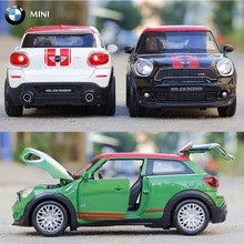 Double Horses 1:32 Scale Diecast Alloy Metal Car Model For MINI Coopers Countryman Collection Model Pull Back Toys Car