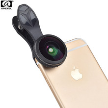 Apexel Professional 210 degree HD Wide Angle Fisheye Lens with Storage Case for iPhone Samsung Smartphone(No Dark Circle) 10MMH