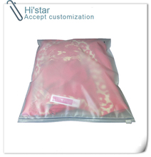 20 pieces double thick Plastic zip lock front clear clothes bags/  packaging Bedding bag sheets pouchs accept custom logo