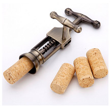 1pc High Quality Retro zinc alloy Red Wine Opener Tool Kit Cork Bottle Tire Corkscrew Collar Pourer(China)