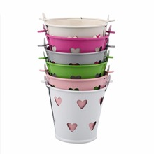 Mini Hollow Heart-Shape Iron Candy Baskets Gift Sugar Storage Barrels Hanging Flower Pot Wedding Party Supplies(China)