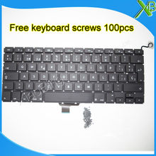 "Brand New SP Spanish keyboard+100pcs keyboard screws For MacBook Pro 13.3"" A1278 2008-2012 Years(China)"