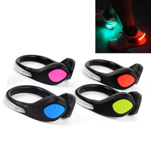 1 Pcs LED Luminous Shoes Clip Light Night Safety Warning LED Bright Flash Light For Running Sports Cycling Bicycle Shoes Clip