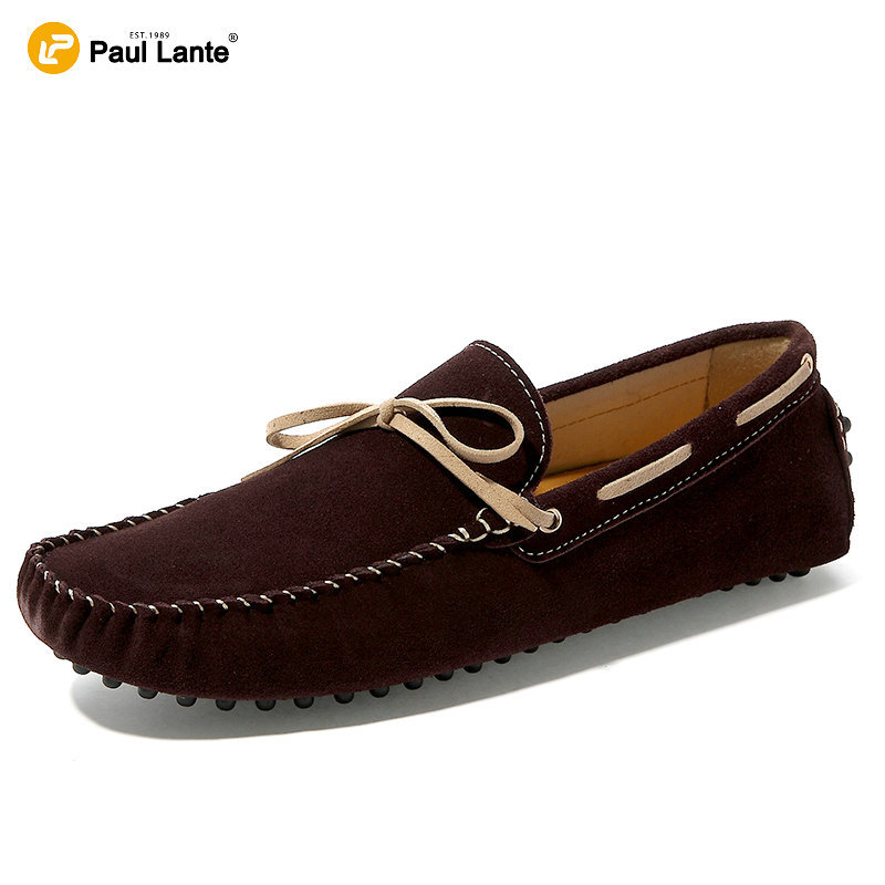 2017 Brand Moc Toe Suede Leather Flats Mens Boat Shoes Slip On Breathable  Step-in Casual Driving Shoes Penny Loafers For Men<br>