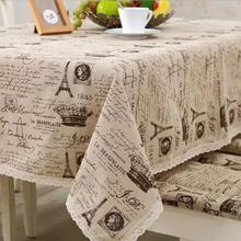 New Arrival Table Cloth Continental Tower Letters Printed High Quality Lace Universal Tablecloth Decorative Table Cover Hot Sale(China)