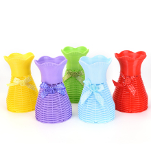 New 1 PCS Reusable Plastic Flower Vase Basket Home Decoration Artificial Flower Vase 13 Styles