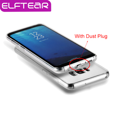 ELFTEAR For Samsung Galaxy S8 Case Clear Ultra Thin Transparent Hard PC Case Crystal Phone Back Cover With Dust Plug For S8 Plus(China)