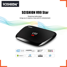 Original SCISHION V99 Star Smart TV Box 2G 16G Rockchip 3368 1.5GHz Octa Core Android 5.1 BT 4.0 Dual Band WiFi Set Top Box