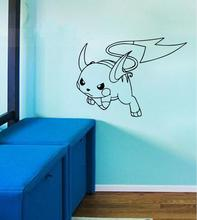 Hot Pokemon Go Cartoon wall stickers Pokemon Pikachu Squirtle Vaporeon Stickers kids best gifts For car Laptop Home Decorations