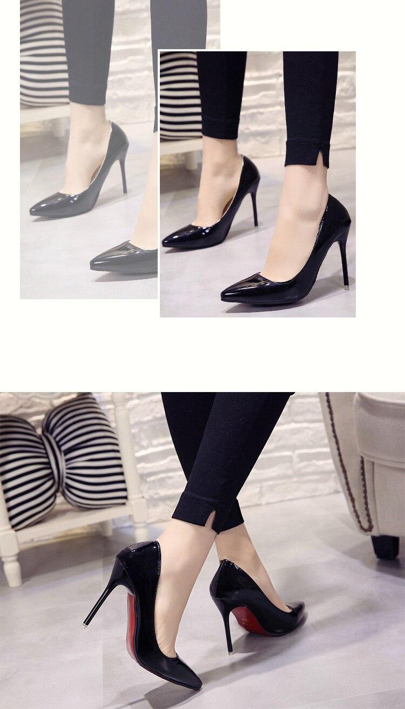 2018 CHAUDE Femmes Chaussures Bout Pointu Pompes En Cuir 23
