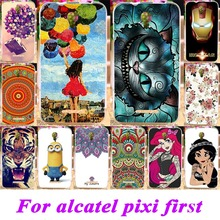 Cell Phone Cases For Alcatel OneTouch One Touch Pixi First 4024 4.0 inch Covers OT 4024D 4024X Soft TPU Cat Tiger Hosuing Bags