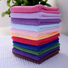 10 PCS 24.5cmX 23.5cm Square Soft Fiber Cotton Hair Bath House Face Hand Car Clean Cloth Towel(China)