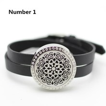 30mm twist top perfume bracelets 316l stainless steel aromatherapy locket bracelets oil diffuser bracelet with crystals