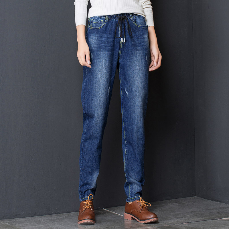 blue high quality women pants Autumn new high waist jeans female trousers were thin casual women jeans DM6804Одежда и ак�е��уары<br><br><br>Aliexpress