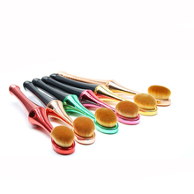 New Rose Red/Gold/Green Makeup Brushes Foundation Blusher Cosmetic Beauty Tools Powder BB Cream Sponge Powder Make Up Brush(China)