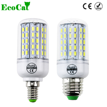 ECO CAT 2017 New Arrival E27 LED Corn Bulb Samsung 5730SMD light 220V 96 LEDs lamp Chandelier Spotlight for indoor lighting(China)