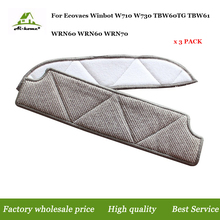 3 set Mopping Cleaning cloth Dishcloth dishrag For Ecovacs Winbot W710 W730 TBW60TG TBW61 WRN60 WRN70 Accessories Replacement