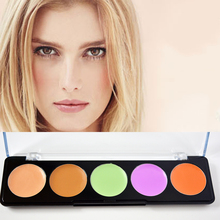 Concealer Professional 5 Color Facial Face Cream Care Camouflage Makeup Palettes Cosmetic(China)