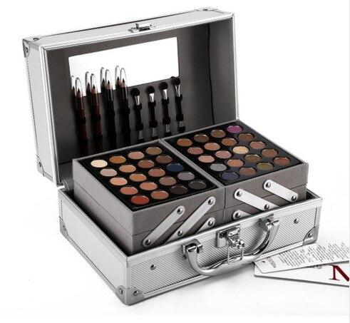 Face Powder Makeup Set Matte &amp; Shimmer Eyeshadow Palette Blockbuster Professional Make Up Kit Highlighter Bronzer box gift<br>