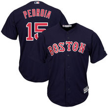 MLB Men's Boston Red Sox Dustin Pedroia #15 Baseball White Home Big Tall Cool Base Player Jersey(China)