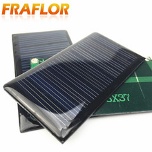 5V 0.3W Monocrystalline Silicon Epoxy Cell Solar Panels Module Kits Mini Solar Cells For Charging Cellphone Battery Size 68x37mm(China)