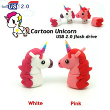 new pink/ white Unicorn head usb flash drive disk memory stick Pen drive personalized mini love gift pendrive 4gb 8gb 16gb 32gb