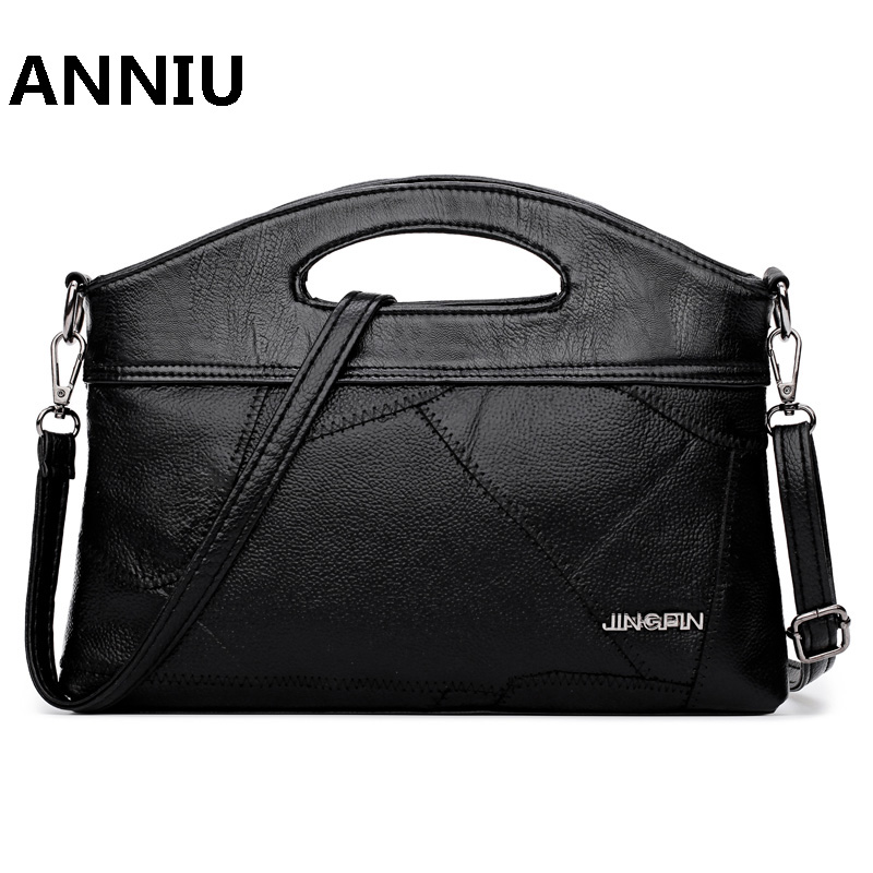 ANNIU Brand WOMENs leather handbag high quality designer Stitching shoulder bag small messenger bag Clutches Bolsas Femininas<br>