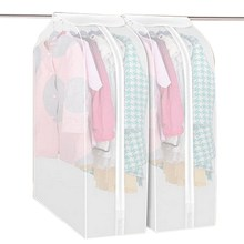Dustproof Clothes Garment Suit Cover Bags Hanging Organizer Storage Garment Suit Coat Dust Cover Protector Wardrobe Storage Bag