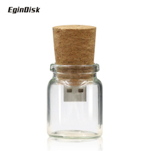 2016 New Creative Gift Pendrive 8gb 16gb 32gb 64gb Novel Usb Flash Drive Funny Drift Bottle Pen Drive Wood USB Memory Stick